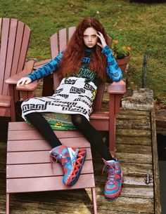 Natalie Westling wears all clothing Marc by Marc Jacobs.