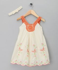Take a look at this Orange Butterfly Dress