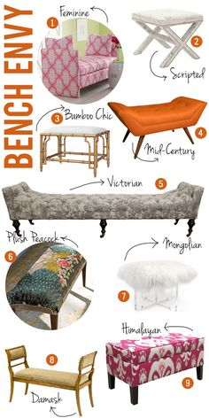 Upholstered benches - Bangles & Bungalows
