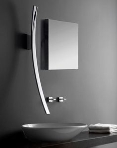 The curved design of the Luna bathroom faucet by GRAFF is inspired by the moon and stars. At almost 40 inches long, the sleek faucet also acts as a wall sculpture and comes with a matching shower head. But beware, the faucet costs about $3,000.