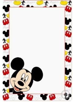 Mickey Love, Mickey Minnie Mouse, Disney Mickey, Mickey Mouse Birthday Decorations, Mickey Mouse Invitation, Powerpoint Background Design, Kids Background, Baby Boy First Birthday, Disney Printables