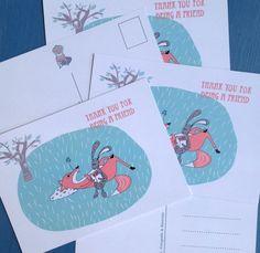 Een persoonlijke favoriet uit mijn Etsy shop https://www.etsy.com/nl/listing/235374098/set-of-5-postcards-thank-you-for-being-a