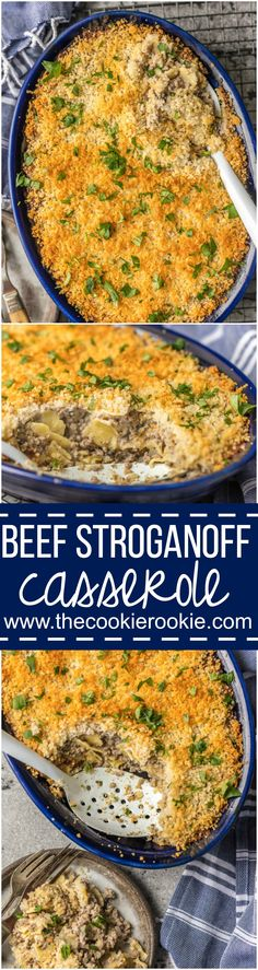 Nothing beats BEEF STROGANOFF CASSEROLE! Such an easy weeknight meal sure to please kids and adults alike! An easy way to make a classic recipe, so yum! via @beckygallhardin