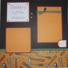 DADDY'S LITTLE HELPER 12x12 Premade Scrapbook by JourneysOfJoy