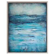 Bring artful appeal to your favorite spaces with this gallery-wrapped canvas print, showcasing an abstract beach scene.    Product:...