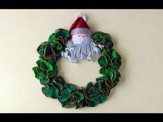 ▶ Manualidades de Navidad - Corona de navidad . Christmas wreath - YouTube