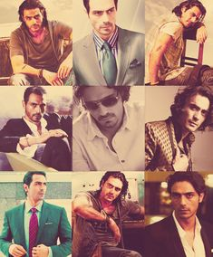 The many faces of Arjun Rampal (b. 26 Nov 1972) - Bollywood Actor and former Indian supermodel - ♥ Rhea Khan