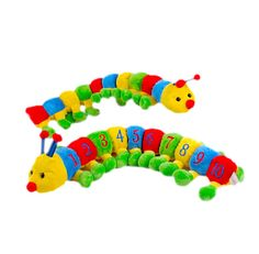Title: Caterpillar soft plush toy green/black by Wild Republic Size: Measures 24 inch / 62cm long Price: AUS$ 16.95 Brand : Wild Republic  Lots more items like this available at: www.stuffedwithplushtoys.com 100 Day Returns |Fast Trackable Shipping|Amazing Service