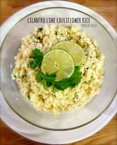 Paleo Cilantro-Lime Cauliflower Rice on www.PopularPaleo.com | Tons of flavor, totally grain-free. A great low carb option to rice!