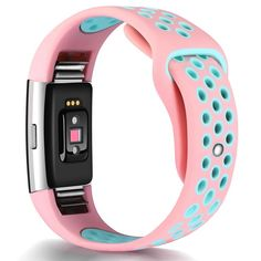Fitbit Charge 2 HR Replacement Wristband Adjustable Band Strap Pink-Teal Small | Sporting Goods, Fitness, Running & Yoga, Fitness Technology | eBay!