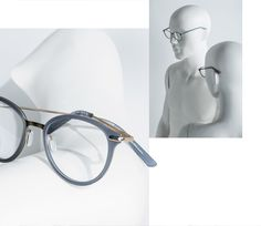 """Accessoire Essentiel  This new Lookbook features 12 sunglasses & 10 optical glasses in a pure & elegant style. The focus is on the only essential accessory: the glasses. Products are shooted on close-up mannequins reflecting the fashion world & the brands attitude. Due to their abstract appearance, the glasses become the only """"real"""" object. To separate sunglasses from optical glasses within the book, two different types of mannequins are used. Optical Glasses, Cat Eye Sunglasses, Separate, Attitude, Pure Products, Abstract, Elegant, Book, Projects"""