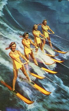"""Obtain great pointers on """"tow boat for water skiing"""". They are actually readily available for you on our site. Vintage Travel Posters, Vintage Postcards, Vintage Photos, Nautique Vintage, Vintage Florida, Vintage California, Moda Vintage, Photoshop, Vintage Swimsuits"""