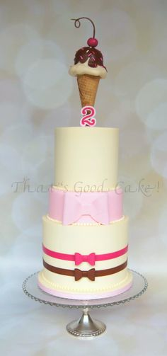 Buttercream iced ice cream themed cake