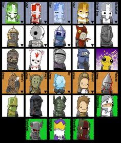Castle Crashers character styles