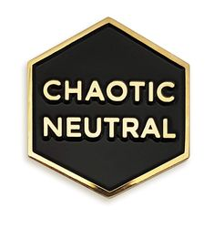 1 inch thick High Quality metal with gold-colored brass plating Diys, Jacket Pins, Chaotic Neutral, Cool Pins, Pin And Patches, Jacket Patches, Pin Badges, Lapel Pins, Pin Collection