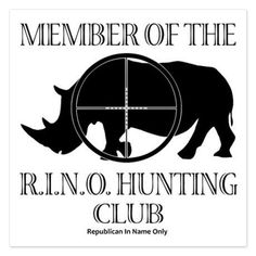 """So much drama in the GOP.  Some decent people will get """"primaried"""".  This is from conservative board.   I hope they do not go out and shoot a real rhino as symbolism."""