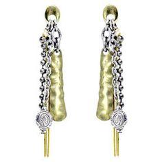 Treska Hardware Linear Chain Drop Earrings
