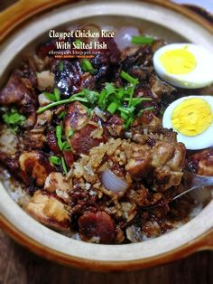 Cuisine Paradise | Singapore Food Blog | Recipes, Reviews And Travel: Featuring Three One Pot Dish Recipes - Claypot Chicken Rice with Salted Fish