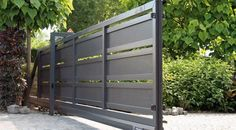 House Main Gates Design, Front Gate Design, Door Gate Design, Gate Designs Modern, Modern Fence Design, Front Gates, Entrance Gates, Automatic Sliding Gate, Steel Gate Design