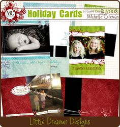 Free Holiday Card Templates + Template How-to