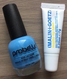 Ipsy Review – January 2015 Polish probelle Nail Lacquer in Into The Blue – FULL SIZE! Value $6 Malin + Goetz Mojito Lip Balm – .20 oz Value $6.85