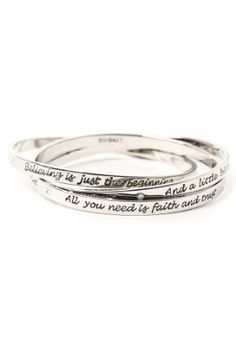 Interlocking bracelets with Disney inspirational sayings - I want one!