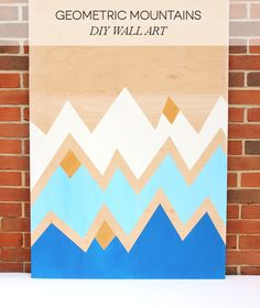 Lines Across: Geometric Mountains DIY Wall Art
