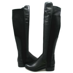 SoleMani Women's Motor Over the Knee boot Black Leather SLIM CALF -- Remarkable product available now. : Snow boots