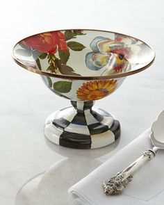 Small Flower Market Compote by MacKenzie-Childs at Neiman Marcus.