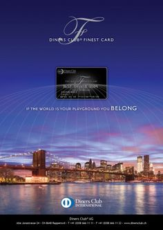Diners Club - The World`s Finest Clubs Diners, Club, World, The World, Dining Rooms, Earth