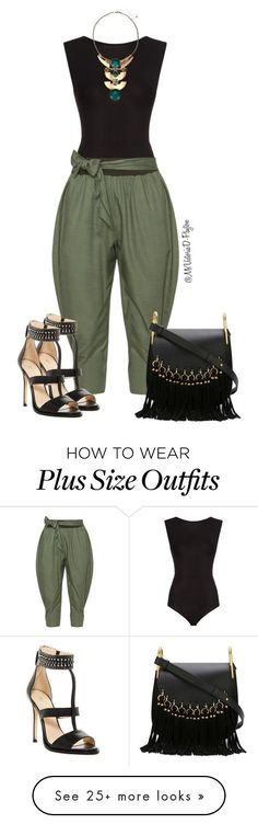 Jessie by msvictoriad on Polyvore featuring Maje, Isolde Roth, Nine West and Chloé