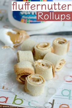 Fluffernutter Rollups: An Easy Kid-Approved Treat! You won't believe how easy these are. They're perfect for back to school lunches, bento box lunch ideas, and even just a yummy a snack at home!