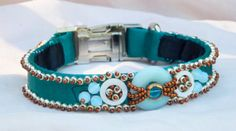 Emerald Green Satin Brocade Luxury Dog Collar with Silver and Bronze Glass Beads Dog Belt, Luxury Dog Collars, Green Satin, Yorkies, Looking Gorgeous, Bead Weaving, Emerald Green, Glass Beads, Bronze