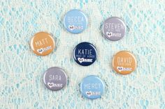 Custom Name Pins Wedding Badges Personalized Button Seating Chart Wedding Party Name Tag Place Cards Table Cards Escort Cards Bridal Shower