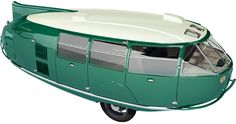 This three-wheeled car or van was designed by Buckminster Fuller, called the Dymaxion. It was designed in the as a concept car that we may drive Buckminster Fuller, Flying Car, Engin, Car Magazine, Car Car, Car Show, Old Cars, Dieselpunk, Concept Cars