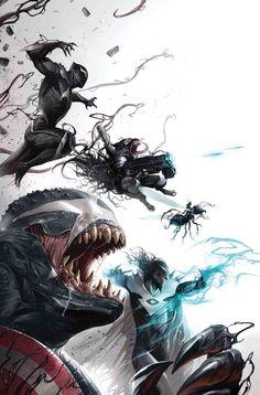 Edge of Venomverse: War Stories - Marvel Comics Marvel Vs, Marvel Venom, Marvel Comics Art, Bd Comics, Marvel Heroes, Venom Spiderman, Venom Mcu, Venom Avengers, Spiderman Marvel