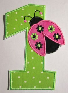 Iron On Applique Birthday Number with by bigblackdogdesigns, $7.99