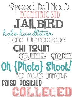 some free fonts for you | Color Me Meg