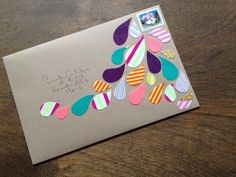 マスキングテープ手紙封筒デコ