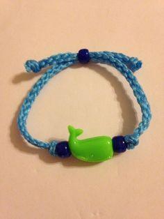 Green Whale Beaded Blue Macrame Bracelet Fashion Jewelry New | eBay