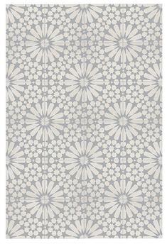 x 8 inch Floor & Wall Agdal White and Grey Encaustic tile Bathroom Floor Tiles, Kitchen Tiles, Kitchen Flooring, Wall Tiles, Tile Floor, Cement Tiles, Morrocan Floor Tiles, Moroccan Tile Bathroom, Mosaic Tiles