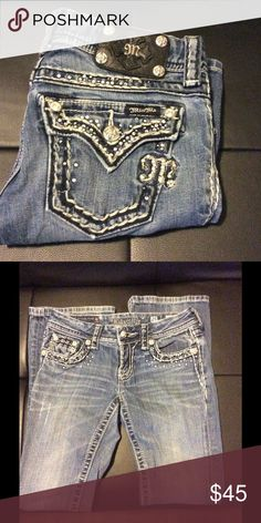 Miss Me Jeans Bootcut Miss Me Jeans. Missing a couple of jewels throughout. Inseam 31. ***No trades*** Miss Me Jeans Boot Cut