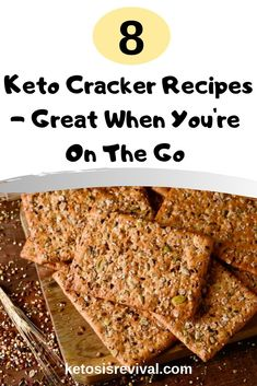 All that it takes during a busy day to keep your hunger at bay is one or two keto crackers and a delicious cup of bulletproof coffee at lunch. Some savory keto crackers are also a great side to many meals while serving as a w Keto Friendly Desserts, Low Carb Desserts, Low Carb Recipes, Healthy Recipes, Appetizer Recipes, Snack Recipes, Cooking Recipes, Appetizer Ideas, Appetizers