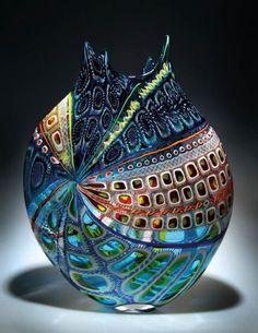 Vase – Blown Glass, designed by D. LO … Vase – Blown Glass, designed by D.