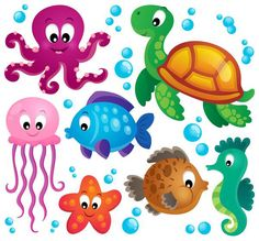 you will receive a zip file containing 17 under the sea clip art rh pinterest com Ocean Beach Clip Art Cartoon Ocean Waves