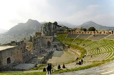 Choose the remarkable holiday by taking sicily excursions! new travel services the best sicily travel guide to provide taxi catania for comfortable transfers. Places Around The World, Oh The Places You'll Go, Around The Worlds, Theater Architecture, Ancient Greek Theatre, Sicily Travel, Outdoor Stage, Ancient Greek Architecture, Sicily Italy