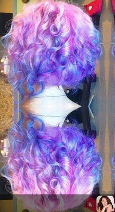 pink purple hair @sweetmelissagrace