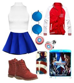 """""""Captain America"""" by k7tee ❤ liked on Polyvore featuring WearAll, Timberland, Matthew Williamson, Casetify, men's fashion, menswear, contestentry and CaptainAmericaCivilWar"""