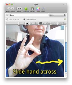 Evernote + Skitch for sign learning and more