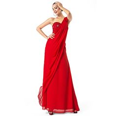 Sheath/Column+One+Shoulder+Floor-length+Chiffon+Evening/Prom+Dress+–+USD+$+63.99